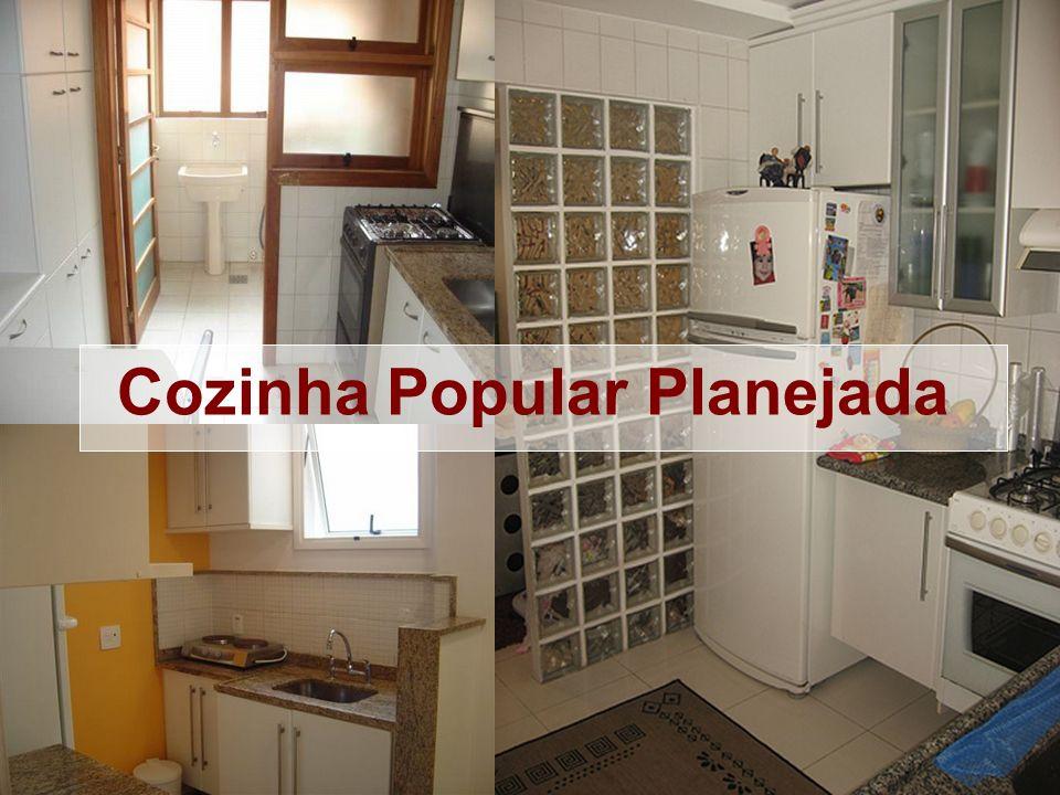 Imagens de cozinhas pobres e cozinhas simples com armários planejados. Cozinha Popular Planejada