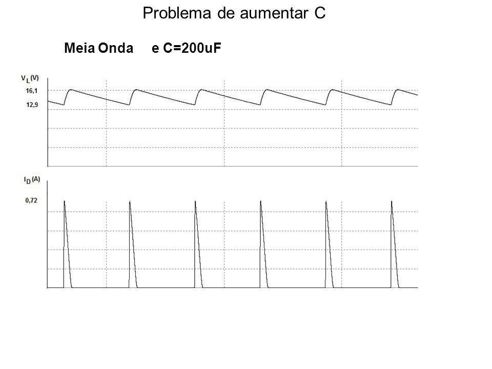 Problema de aumentar C Meia Onda e C=200uF
