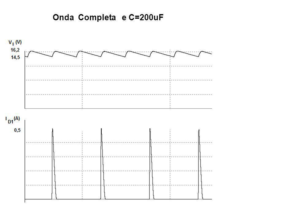 Triplicador C1 se carrega com aproximadamente Vp através de D1 C2 se carrega com aproximadamente 2.Vp através de D2 C3 se carrega com aproximadamente Vp através de D3 A tensão Vs será aproximadamente 3.Vp