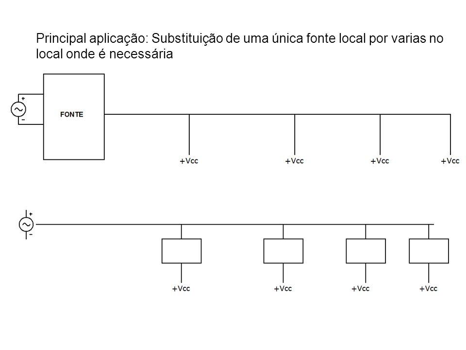 Principal aplicação: Substituição de uma única fonte local por varias no local onde é necessária