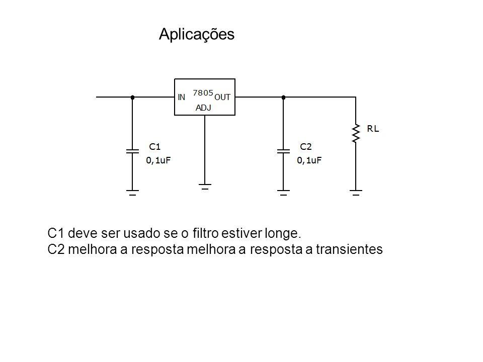 Aplicações C1 deve ser usado se o filtro estiver longe. C2 melhora a resposta melhora a resposta a transientes