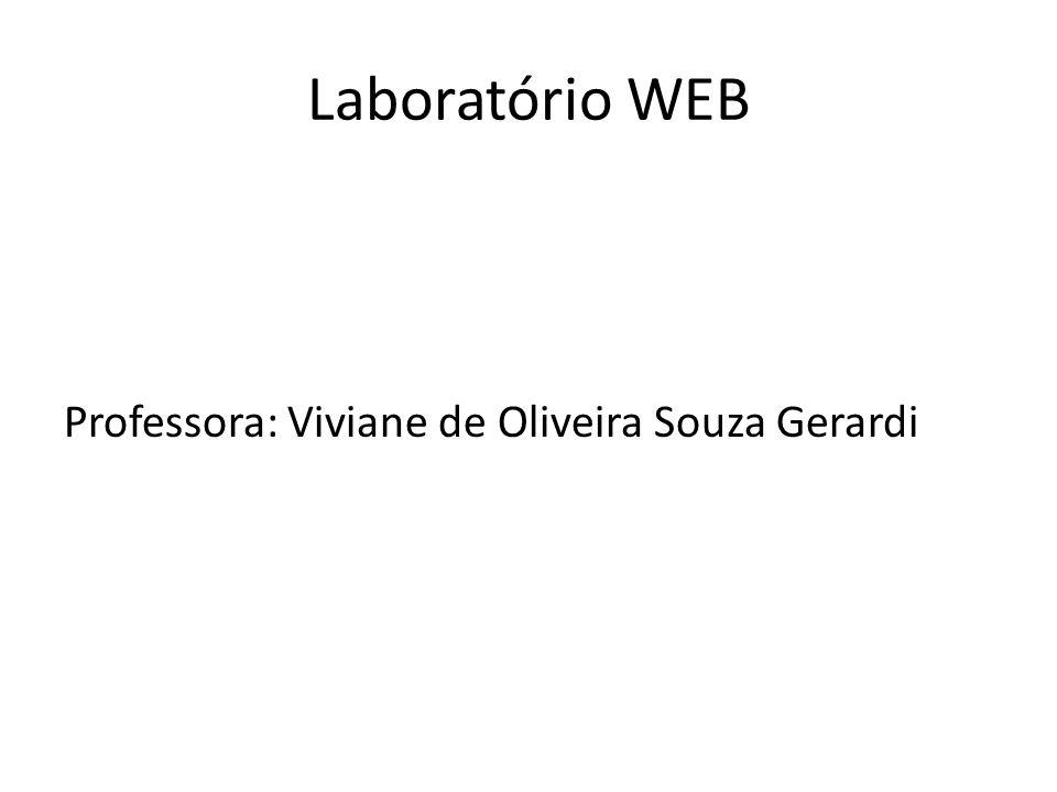 Laboratório WEB Ementa Banco de dados: Conceitos.Modelos conceituais de informações.