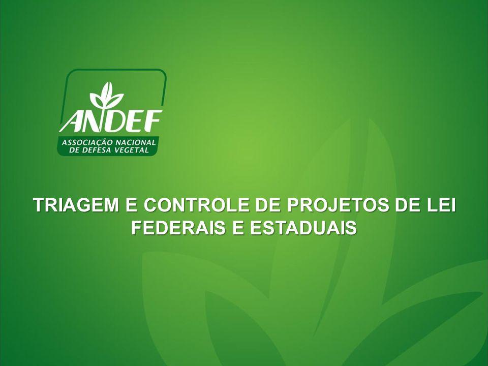TRIAGEM E CONTROLE DE PROJETOS DE LEI FEDERAIS E ESTADUAIS