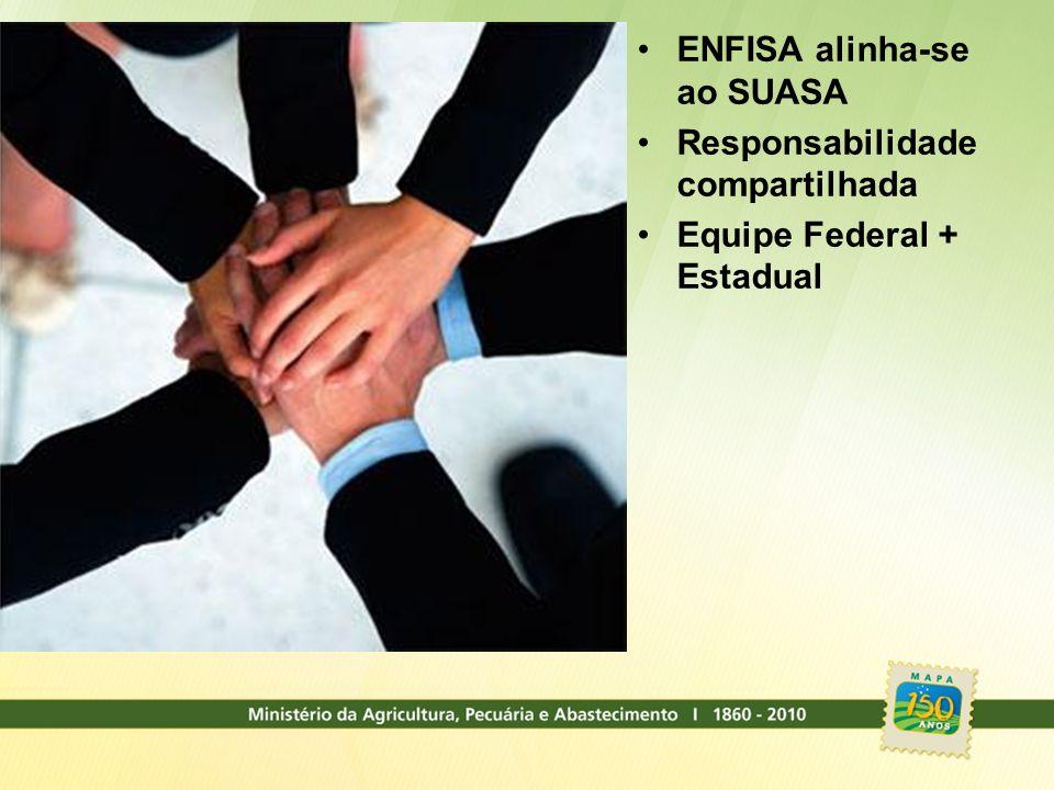 ENFISA alinha-se ao SUASA Responsabilidade compartilhada Equipe Federal + Estadual