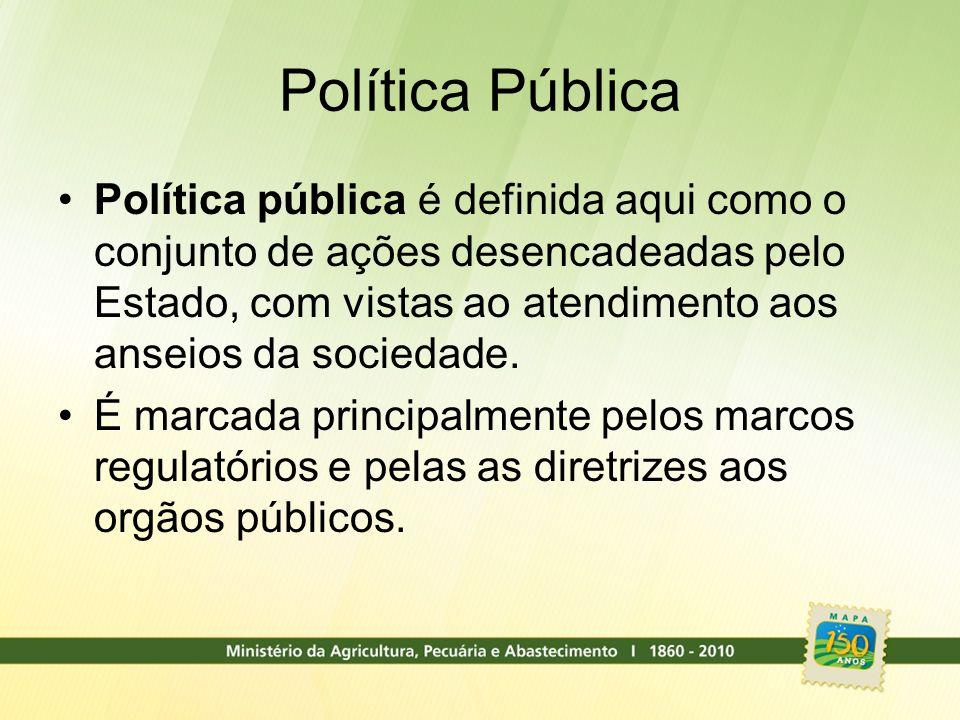 Política Pública Política pública é definida aqui como o conjunto de ações desencadeadas pelo Estado, com vistas ao atendimento aos anseios da socieda