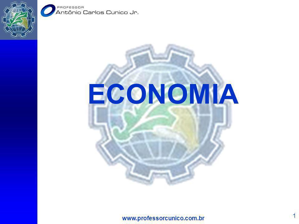 www.professorcunico.com.br 62 O Mecanismo de Mercado D S Q1Q1 Suponha que o preço seja P 1, então: 1) Q s : Q 2 > Q d : Q 1 2) O excesso de oferta é Q 2 – Q 1.