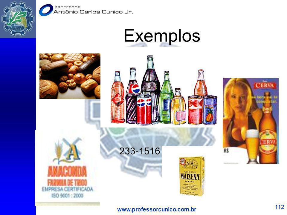 www.professorcunico.com.br 112 Exemplos 233-1516