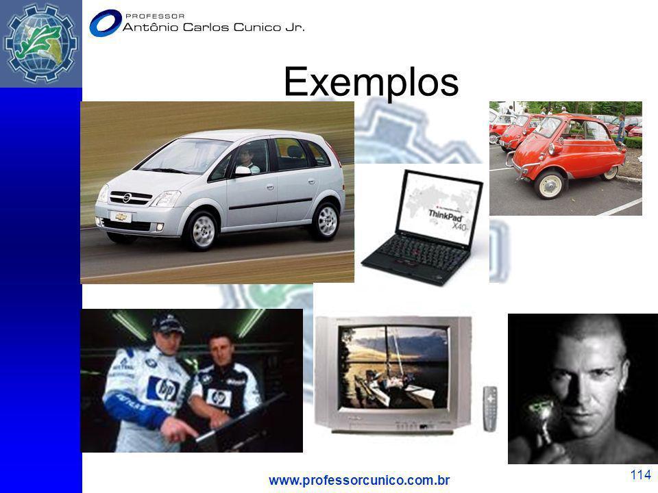 www.professorcunico.com.br 114 Exemplos