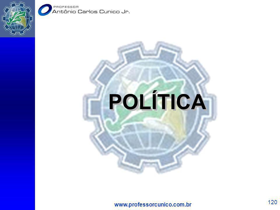 www.professorcunico.com.br 120 POLÍTICA