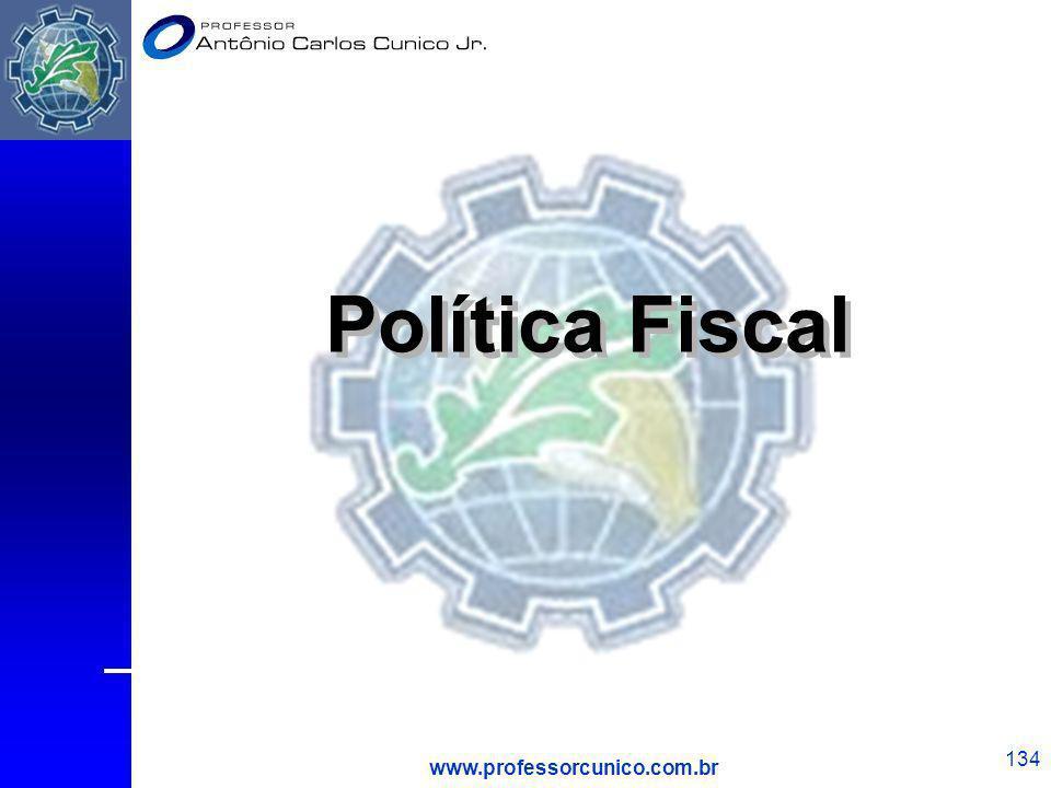 www.professorcunico.com.br 134 Política Fiscal