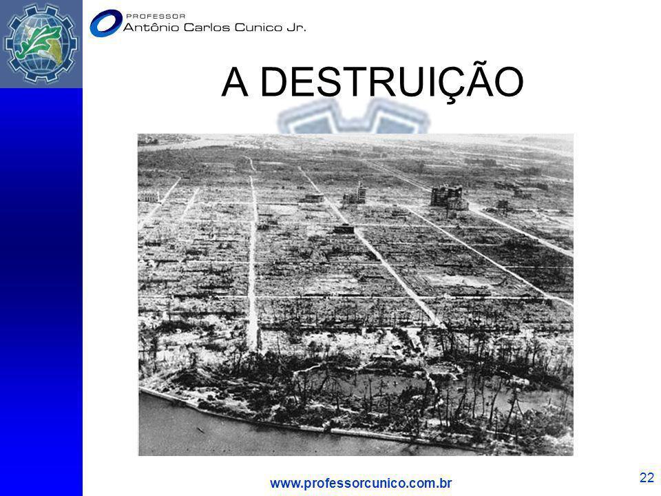 www.professorcunico.com.br 22 A DESTRUIÇÃO