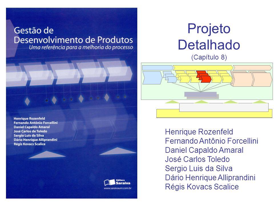 Projeto Detalhado (Capítulo 8) Henrique Rozenfeld Fernando Antônio Forcellini Daniel Capaldo Amaral José Carlos Toledo Sergio Luis da Silva Dário Henr