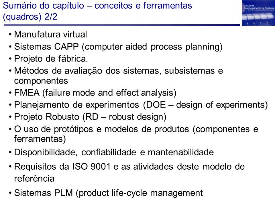 Visão estruturada do FMEA (quadro 8.24) ação preventiva >R S verificação índice de risco modo efeito causa severidade ocorrência detecção Falha característica função FMEA: failure mode and effect analysis