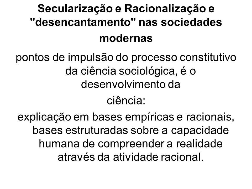 Secularização e Racionalização e