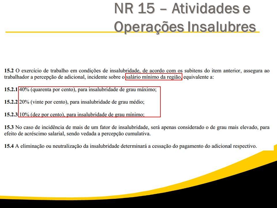 NR 15 – Atividades e Operações Insalubres