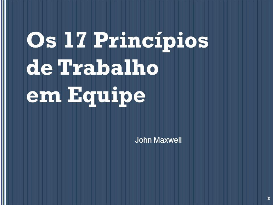 Os princípios de liderança que impactam a equipe Os Bons líderes: 18 Usam todas as oportunidades dadas por Deus.