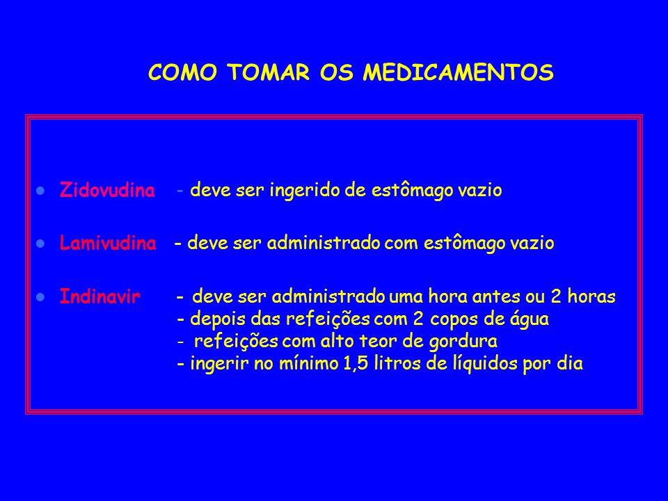 POSOLOGIA Zidovudina (AZT) 100 mg Zidovudina (AZT) 100 mg - 2 cáps 3x/dia, 3 cáps 2x/dia ou 1 cáps 5x/dia - total 180 cáps/mês Lamivudina (3TC) 150 mg