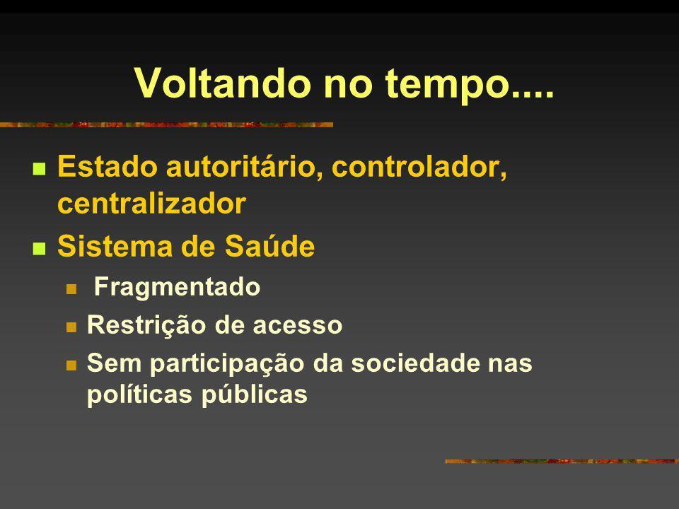 SUS Conquista da sociedade Movimento social que avança apesar do contexto neoliberal e de globalização econômica em nível mundial