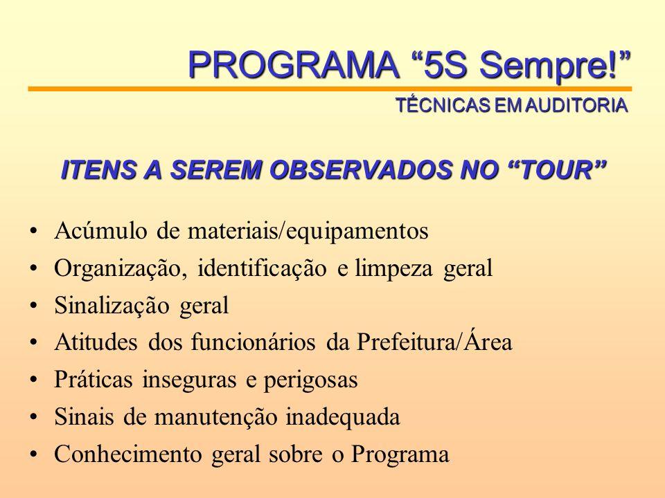 TRIÂNGULO DA AUDITORIA PROGRAMA 5S Sempre! TÉCNICAS EM AUDITORIA PERGUNTE OBSERVEVERIFIQUE