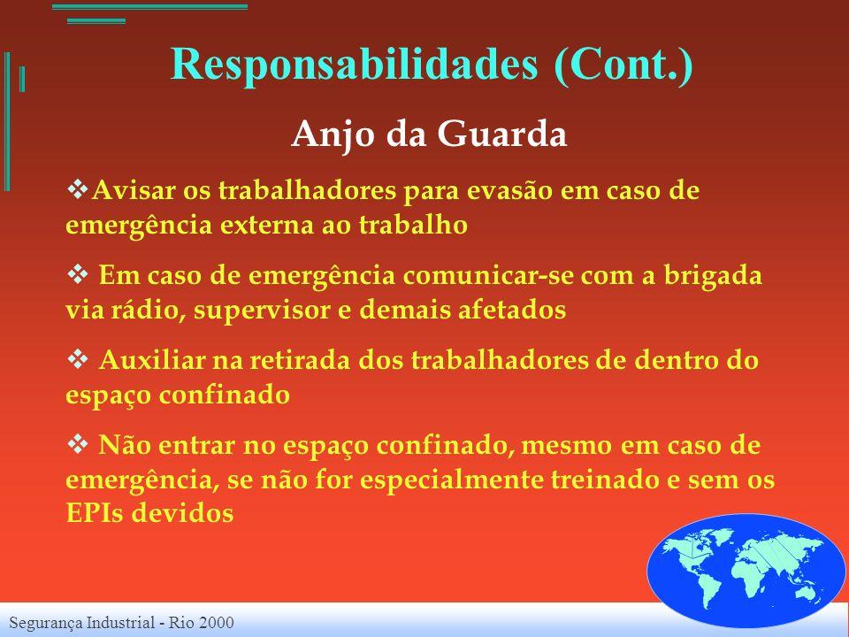Segurança Industrial - Rio 2000 Anjo da Guarda Avisar os trabalhadores para evasão em caso de emergência externa ao trabalho Em caso de emergência com