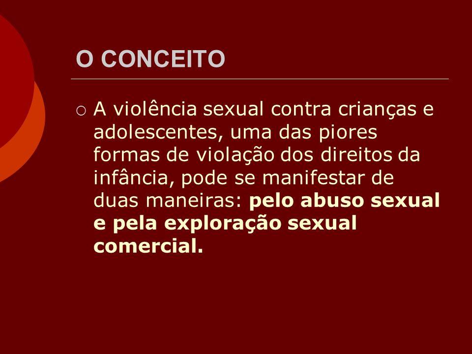 O CONCEITO A violência sexual contra crianças e adolescentes, uma das piores formas de violação dos direitos da infância, pode se manifestar de duas m