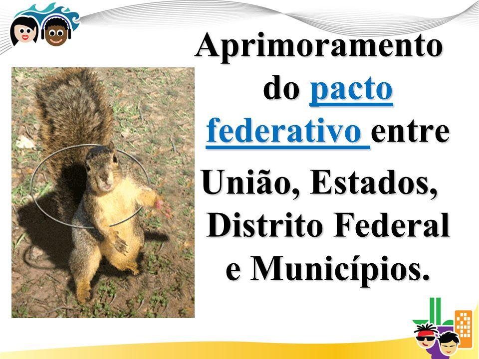 Aprimoramento do pacto federativo entre União, Estados, Distrito Federal e Municípios.