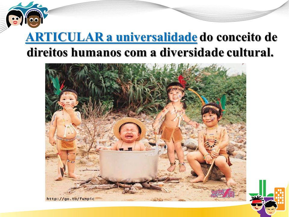ARTICULAR a universalidade do conceito de direitos humanos com a diversidade cultural.