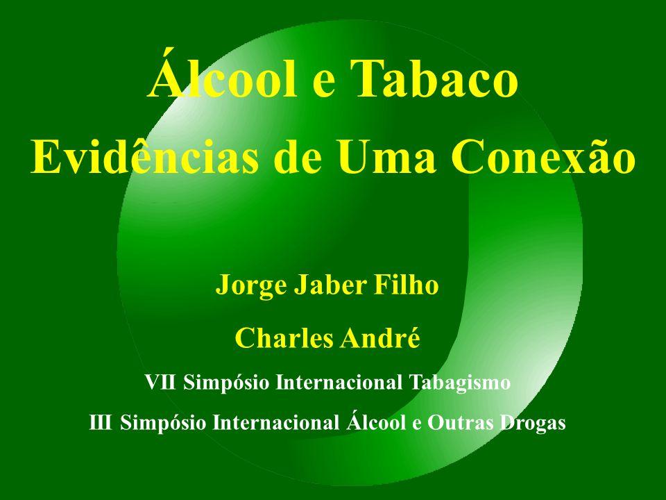 Álcool e Tabaco Evidências de Uma Conexão Jorge Jaber Filho Charles André VII Simpósio Internacional Tabagismo III Simpósio Internacional Álcool e Out