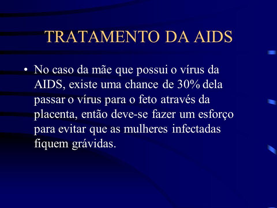 TRATAMENTO DA AIDS Com isso, a medida mais importante é o uso de preservativos durante a relação sexual, o uso de seringas descartáveis, evitar o uso de drogas injetáveis, principalmente utilizando-se a mesma agulha em outros indivíduos.