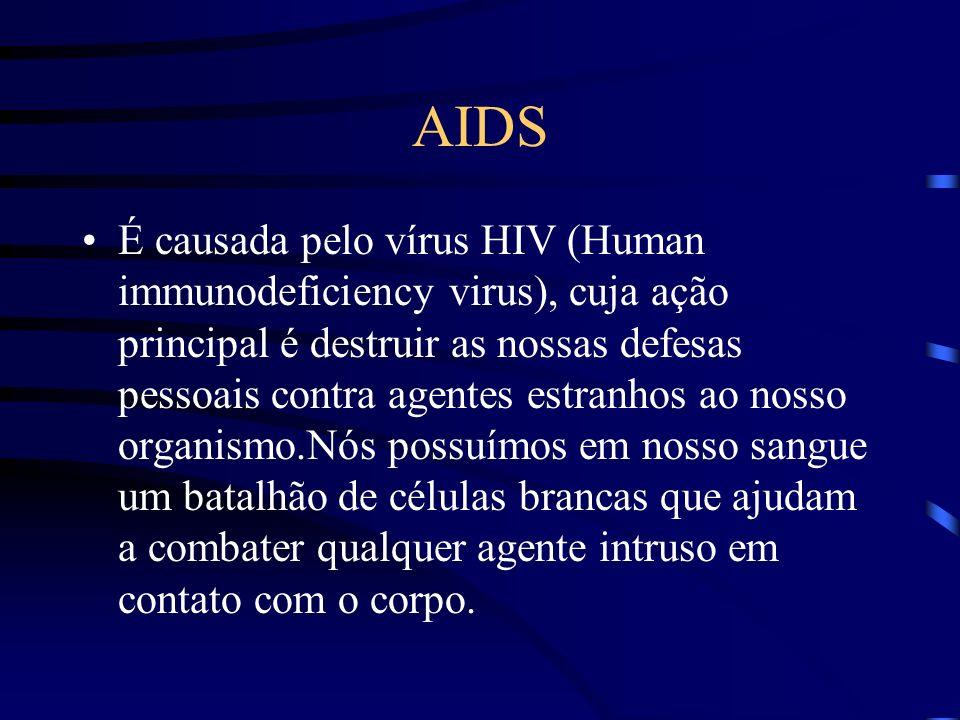 AIDS A AIDS, ou Síndrome da imunodeficiência adquirida não é uma doença com seus sintomas característicos, mas sim um conjunto de doenças variadas podendo se manifestar de maneiras bem diferentes de indivíduo para indivíduo.