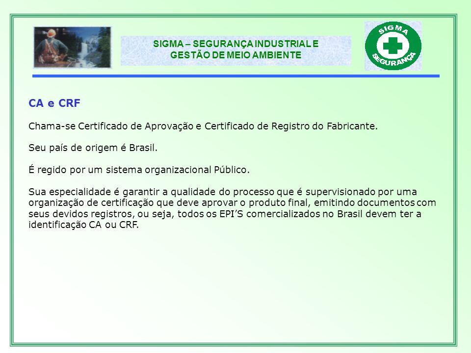 SIGMA – SEGURANÇA INDUSTRIAL E GESTÃO DE MEIO AMBIENTE ABNT Chama-se Associação Brasileira de Normas Técnicas.