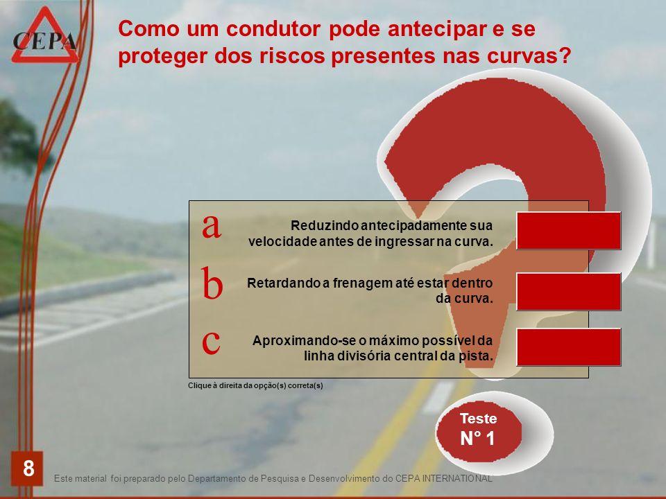 Este material foi preparado pelo Departamento de Pesquisa e Desenvolvimento do CEPA INTERNATIONAL 8 Clique à direita da opção(s) correta(s) Como um co