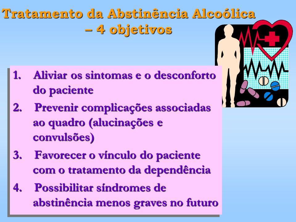 Tratamento da Abstinência Alcoólica – 4 objetivos 1.