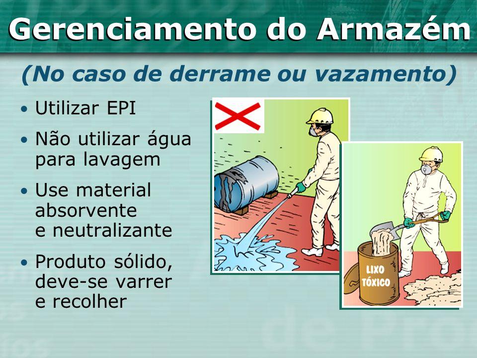 Utilizar EPI Não utilizar água para lavagem Use material absorvente e neutralizante Produto sólido, deve-se varrer e recolher (No caso de derrame ou v