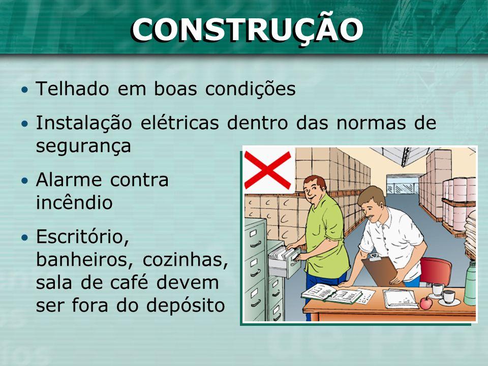 Telhado em boas condições Instalação elétricas dentro das normas de segurança Alarme contra incêndio Escritório, banheiros, cozinhas, sala de café dev