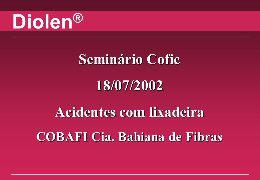 Diolen ® South America 12/31/2013 Data: 14/06/2002 Hora: 12h55min Local: Laje nível 06 metros do prédio BE Classificação: LWC RESUMO DO RELATÓRIO DE ACIDENTE
