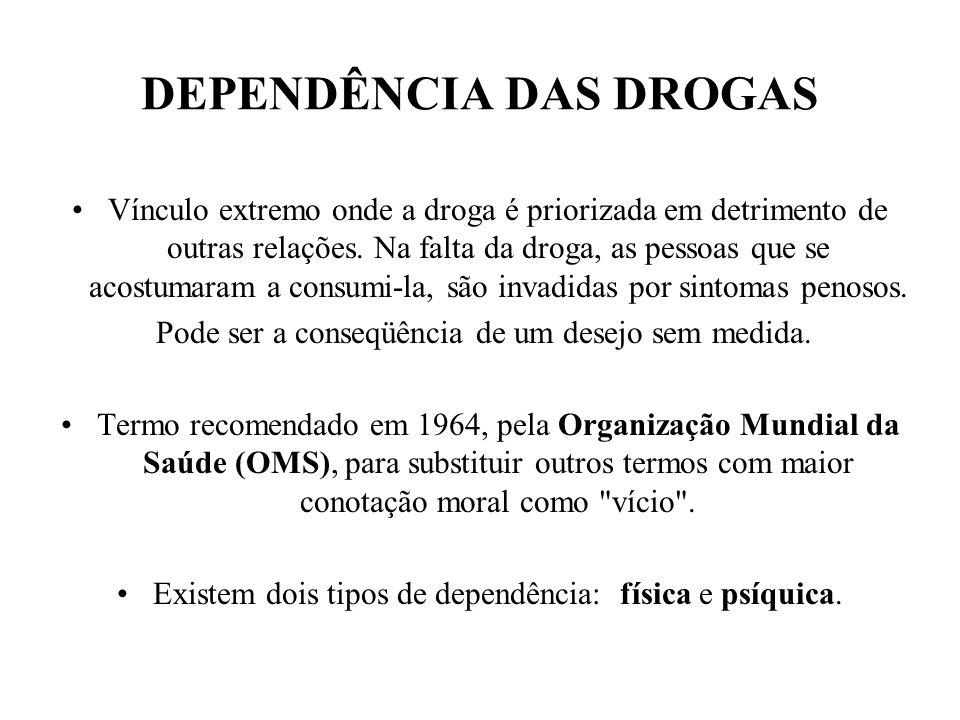 A AÇÃO DOS PSICOTRÓPICOS A ação de cada psicotrópico depende: do tipo da droga (estimulante, depressora ou perturbadora), da via de administração, da