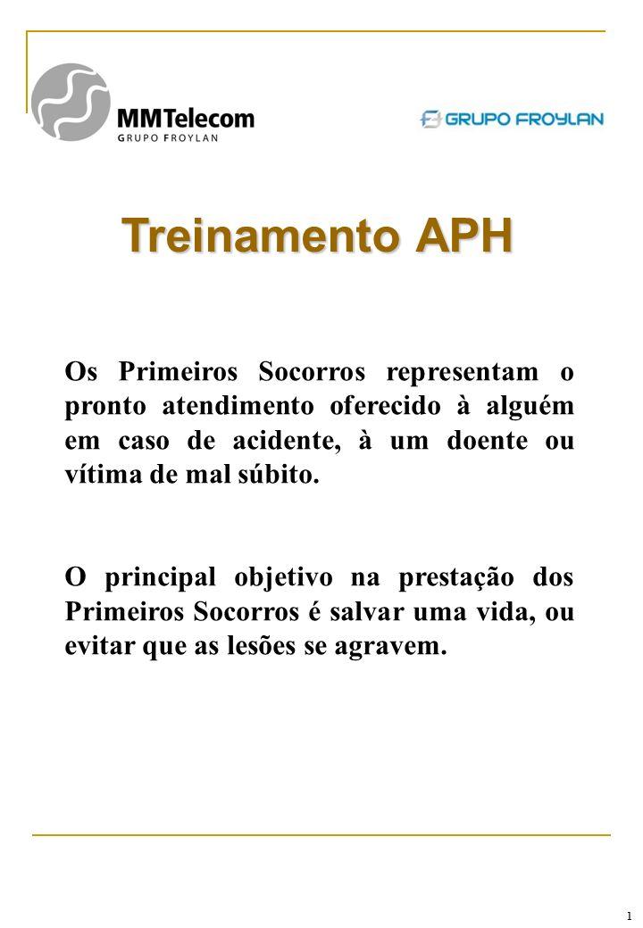 1 Treinamento APH Os Primeiros Socorros representam o pronto atendimento oferecido à alguém em caso de acidente, à um doente ou vítima de mal súbito.