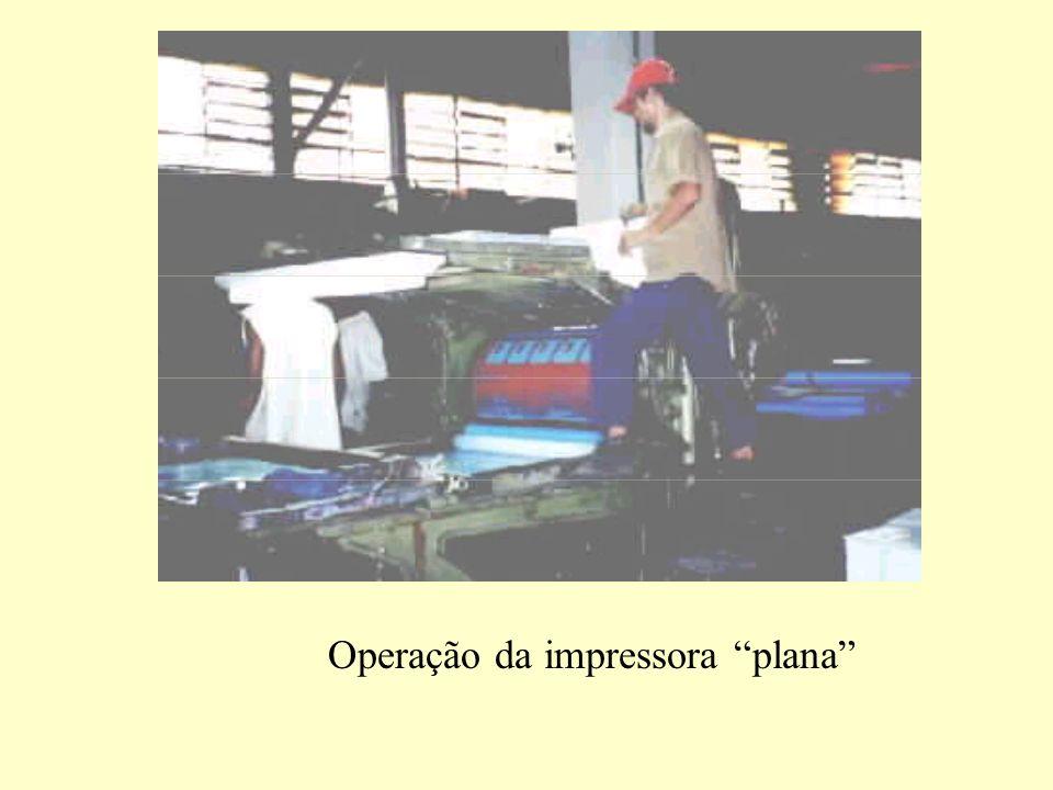 Operação da impressora plana