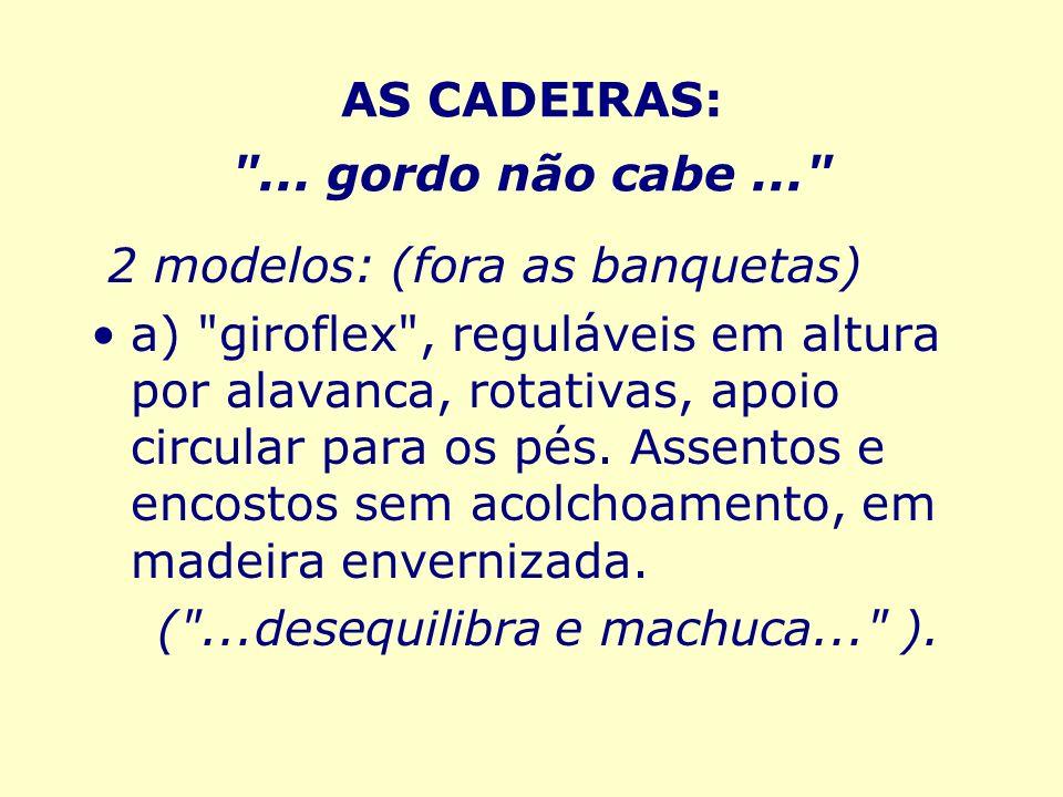AS CADEIRAS: