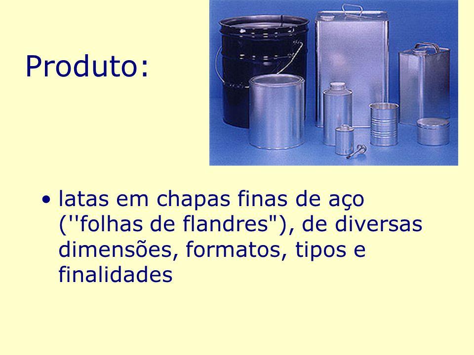 latas em chapas finas de aço (''folhas de flandres