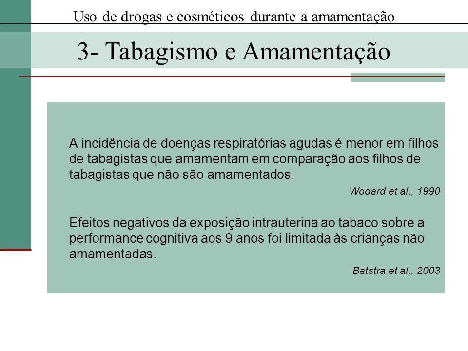 A incidência de doenças respiratórias agudas é menor em filhos de tabagistas que amamentam em comparação aos filhos de tabagistas que não são amamenta