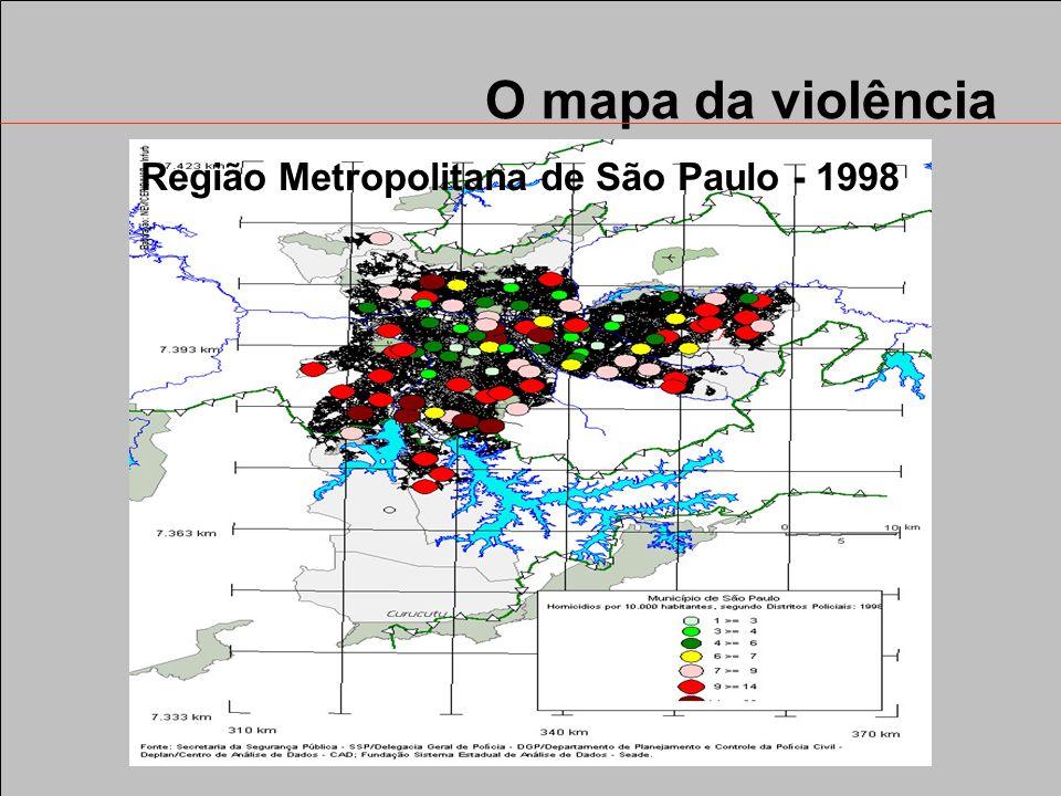 O mapa da violência Região Metropolitana de São Paulo - 1992