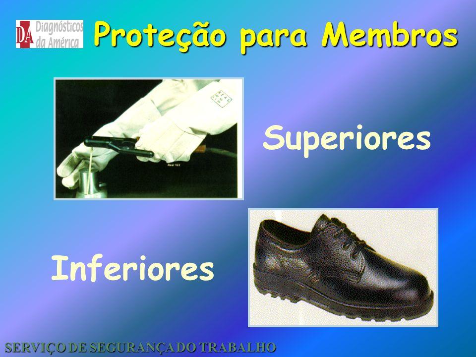 Proteção para o Tronco Protege contra respingos de substâncias químicas materiais quentes e etc. Avental / Jaleco SERVIÇO DE SEGURANÇA DO TRABALHO