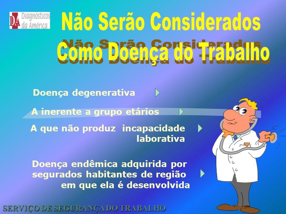 Tipos de Acidente SERVIÇO DE SEGURANÇA DO TRABALHO Acidente Típico Acidente de Trajeto Doença Ocupacional