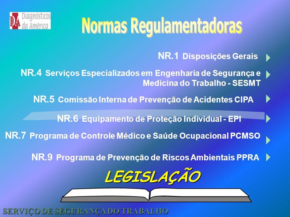 Legislação Trabalhista São estas 29 NRs que compõem a portaria do MTE n.º 3214 vigente desde 06.07.78, relativas a Segurança e Medicina do Trabalho. E