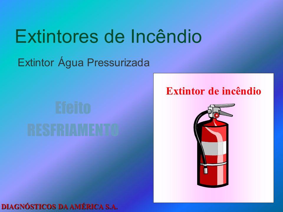 DIAGNÓSTICOS DA AMÉRICA S.A. Métodos de Extinção do Fogo Abafamento Resfriamento Isolamento