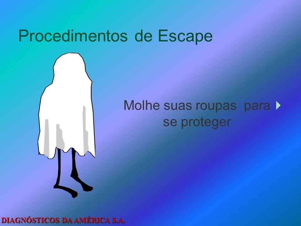 DIAGNÓSTICOS DA AMÉRICA S.A. Procedimentos de Escape Livre-se de tudo que possa queimar. Peça socorro pela janela