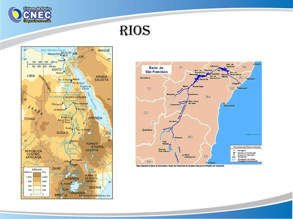 Rios em áreas tropicais São rios perenes por se localizarem em áreas onde as chuvas são abundantes.