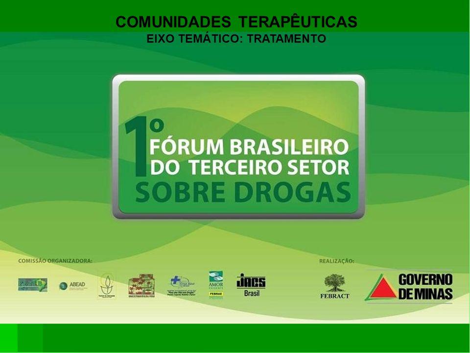 COMUNIDADES TERAPÊUTICAS EIXO TEMÁTICO: TRATAMENTO